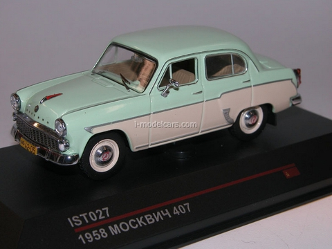 Moskvich-407 light green-beige 1958 IST027 IST Models 1:43