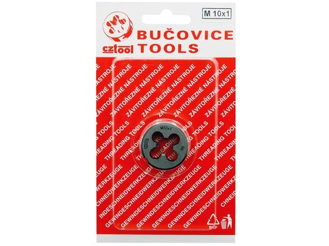 Плашка М10x1,0 DIN EN22568 6g CS(115CrV3) 30х11мм S4 Bucovice(СzTool) 210102
