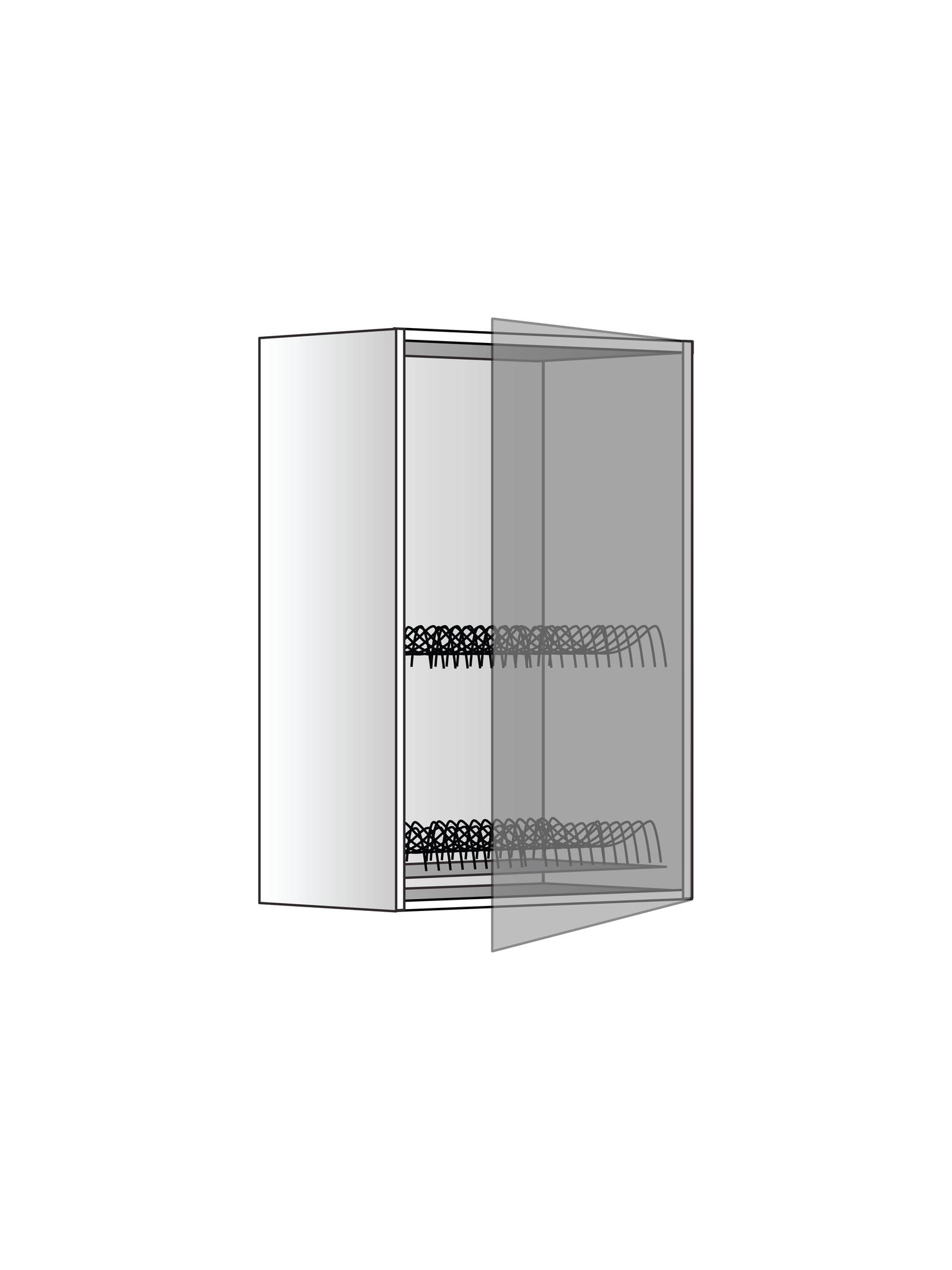 Верхний шкаф с сушилкой, 720Х450 мм