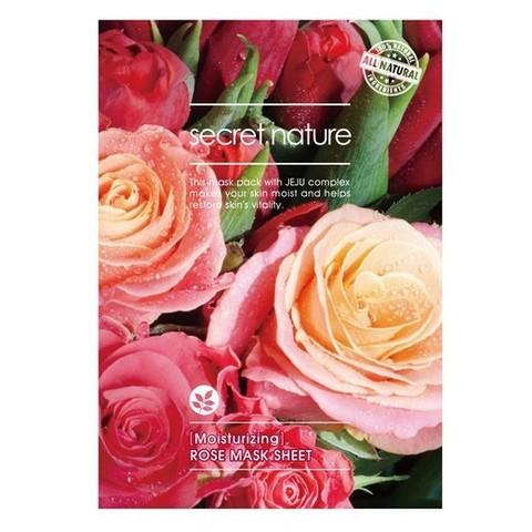Увлажняющая маска для лица с розой