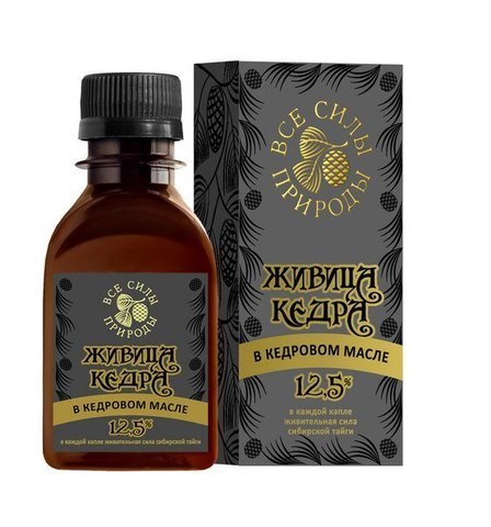 Живица кедра в кедровом масле - Сибирская чистка 12,5% , 110 мл.