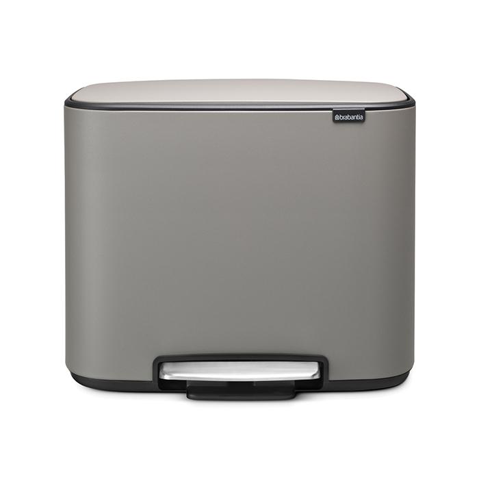 Мусорный бак Bo  (3 x 11 л), Минерально-серый, арт. 121524 - фото 1
