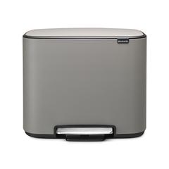 Мусорный бак Bo  (3 x 11 л), Минерально-серый