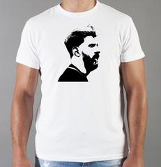 Футболка с принтом Лионель Месси (Lionel Messi) белая 004