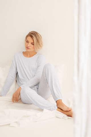 Довга піжама в смужку