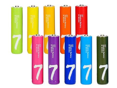 Батарейка Xiaomi AAA Rainbow 7 (10 штук в боксе)