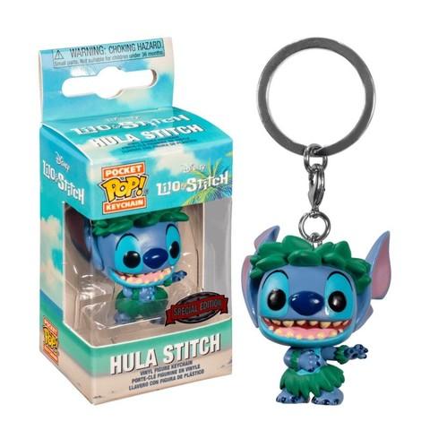 Funko Pocket POP! Keychain: Disney Lilo & Stitch Stitch In Hula Skirt (Exc)