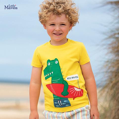 Футболка для мальчика Little Maven Крокодил
