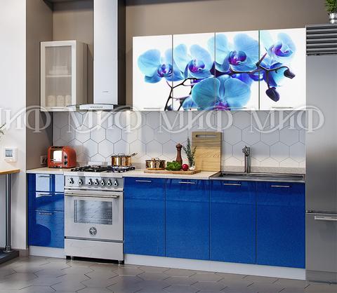 Кухня Орхидея синяя