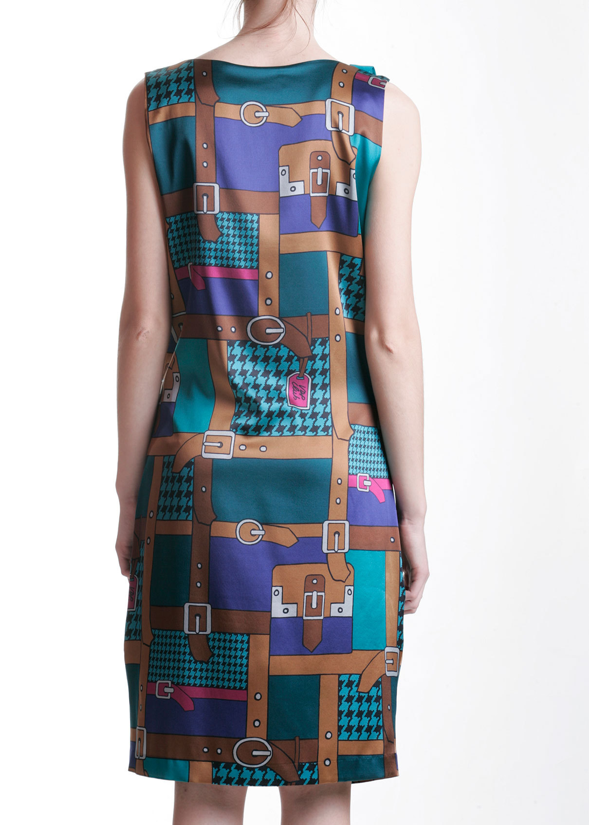 Платье из шелка и вискозы VDP