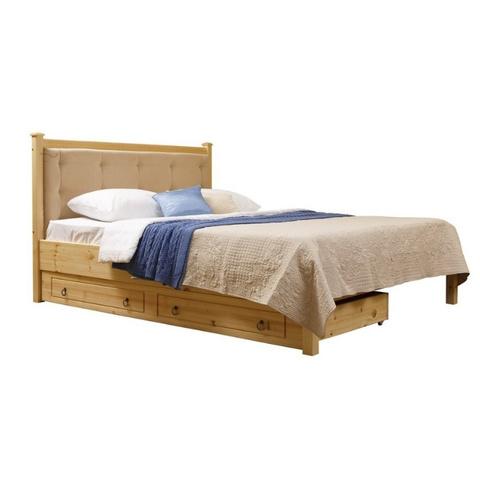 Кровать мягкая Дания №1 без изножья, с ящиками
