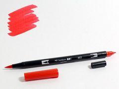Маркер-кисть Tombow ABT Dual Brush Pen-885, красный теплый
