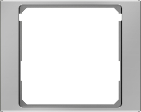 Рамка на 1 пост промежуточная 50 x 50 мм. Цвет Нержавеющая сталь. Berker (Беркер). K.5. 11087004