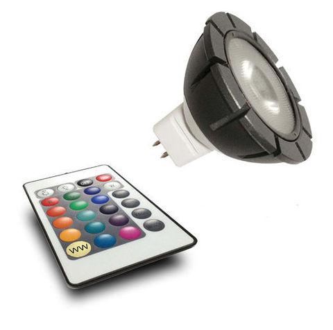 Светодиодная лампа с пультом MR16 RGB spotlight + remote
