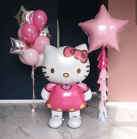 Композиция из шаров Hello Kitty ходячая