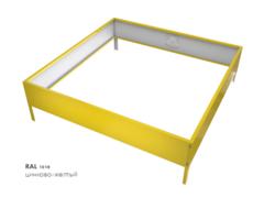 Клумба квадратная оцинкованная 1 ярус RAL 1018 Цинково-жёлтый