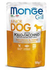 Паучи для щенков, Monge Grill PUPPY&JUNIOR Pouch, с курицей и индейкой
