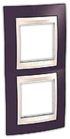 Рамка на 2 поста. Цвет вертикальная Гранат/Белый. Schneider electric Unica Хамелеон. MGU6.004V.872