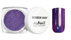 ruNail, Зеркальная пыль для втирки с аппликатором, Mirror Dust,  сиреневая