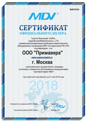 Напольно-потолочный MDV MDUE-18HRN1 / MDOU-18HN1-L