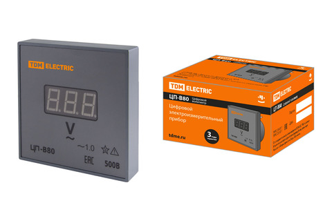Цифровой вольтметр ЦП-В80 500В-1,0 (без поверки) TDM