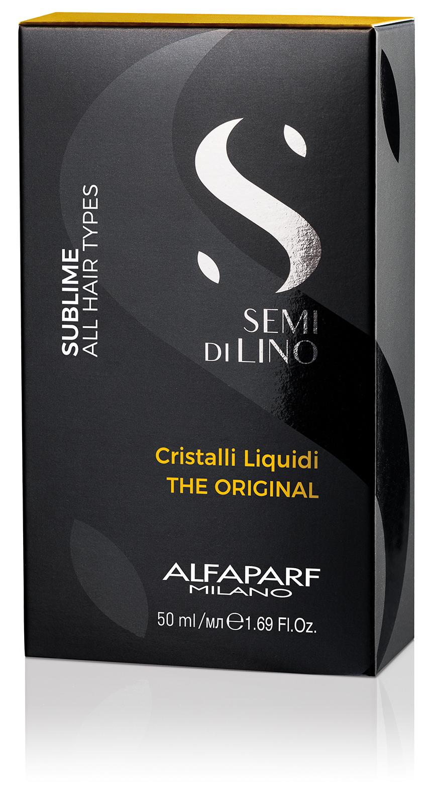 Масло против секущихся волос, придающее блеск SDL SUBLIME CRISTALLI LIQUIDI, 50 МЛ ALFAPARF 16456