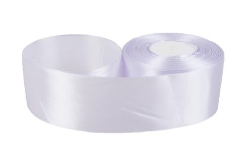 Лента атласная (размер: 50мм х 30м) Цвет:светло-сиреневая