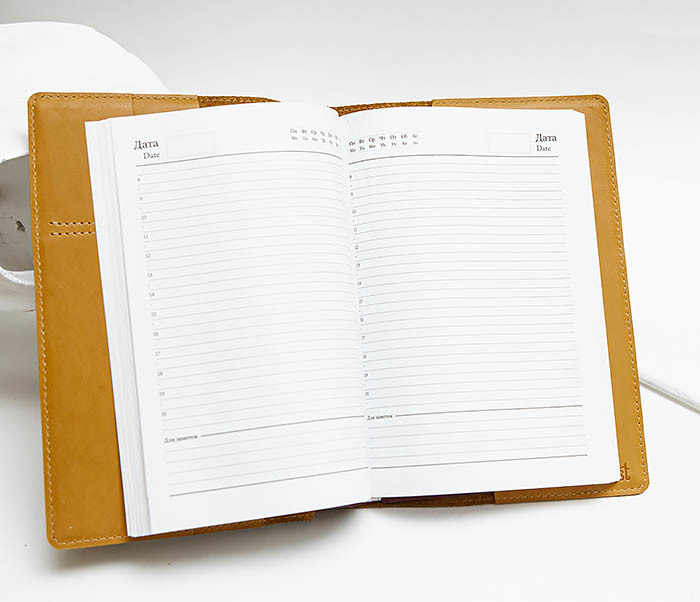 BY051102 Кожаный ежедневник для нее, «Девчачьи Дела» (А5) фото 07