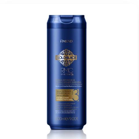 Amend Несмываемый бальзам-кондиционер с кератином для восстановления поврежденных волос / RMC Balm antifrizz Gold  Black RMC System Q+ 300 мл