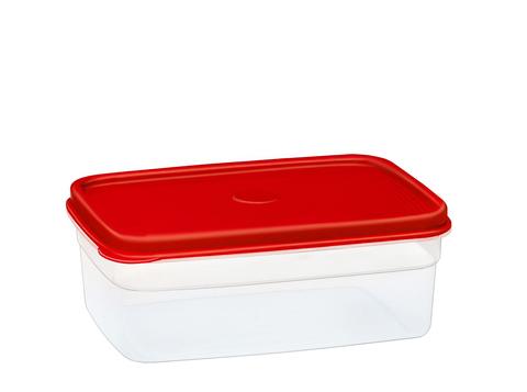 Бутербродница прямоугольная 1 литр Эльфпласт контейнер для хранения еды с крышкой 18,3x13x7 см