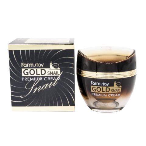 FarmStay Gold Snail Premium Cream антивозрастной крем с золотом и муцином улитки