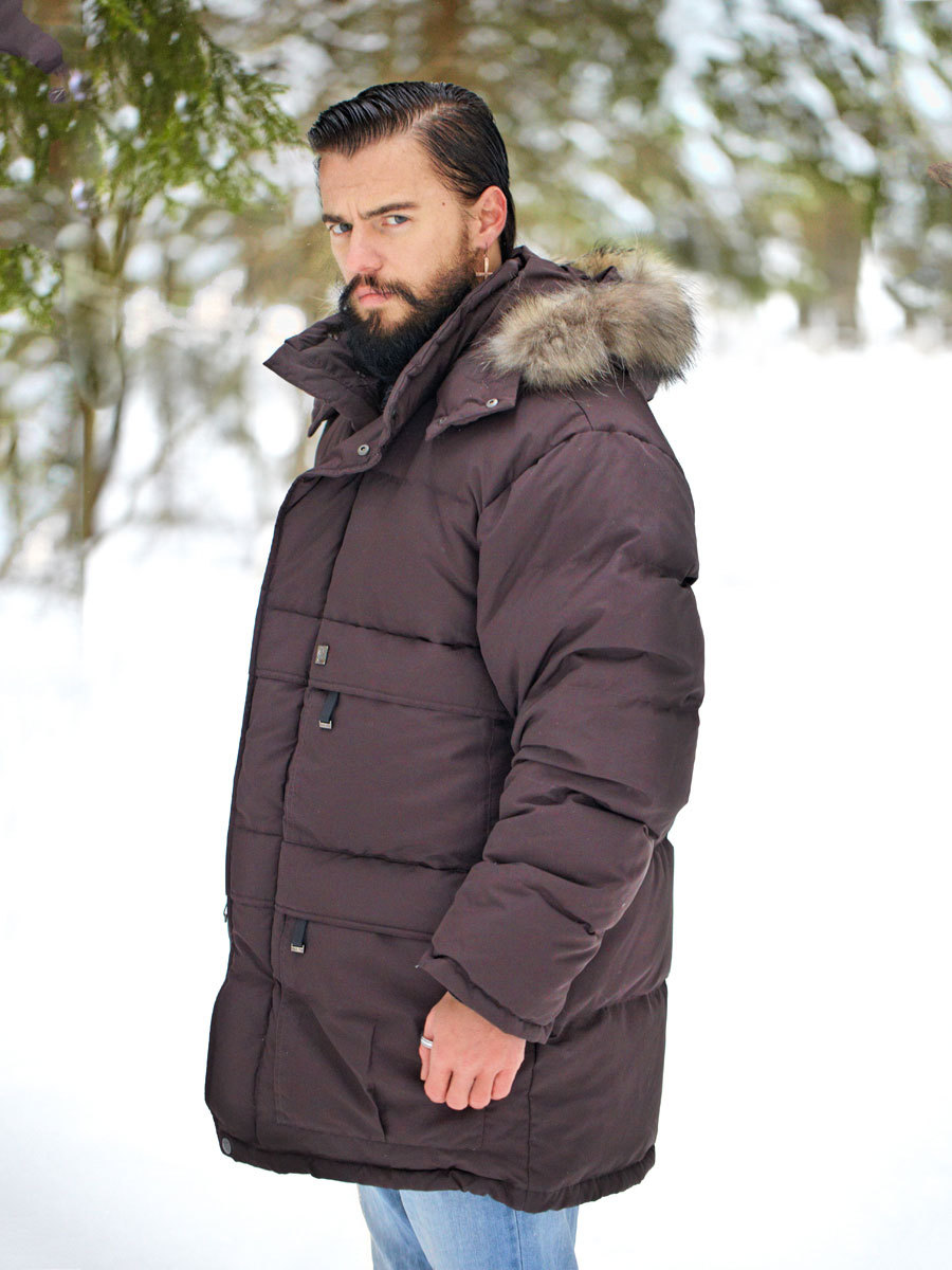 Joutsen пуховик Arctic коричневый