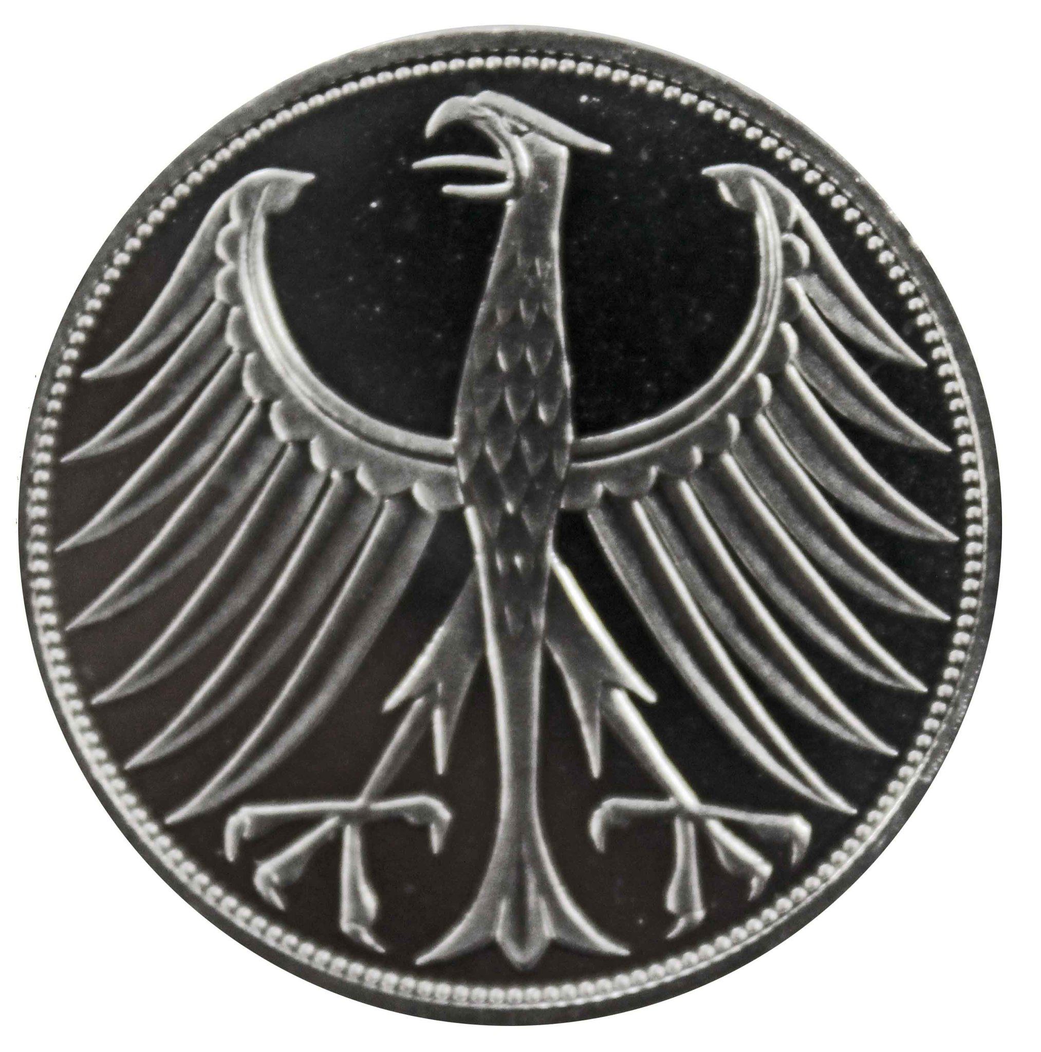 5 марок 1971 (J) Германия. Серебро. PROOF