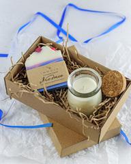 Набор ароматическая свеча Amore и мыло «Ягодное», Россия