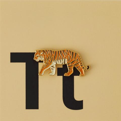 Значок металлический Зоопарк: Амурский тигр