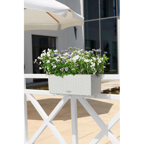 15600 Кашпо LECHUZA Балконера Коттедж 50 Белое с системой полива
