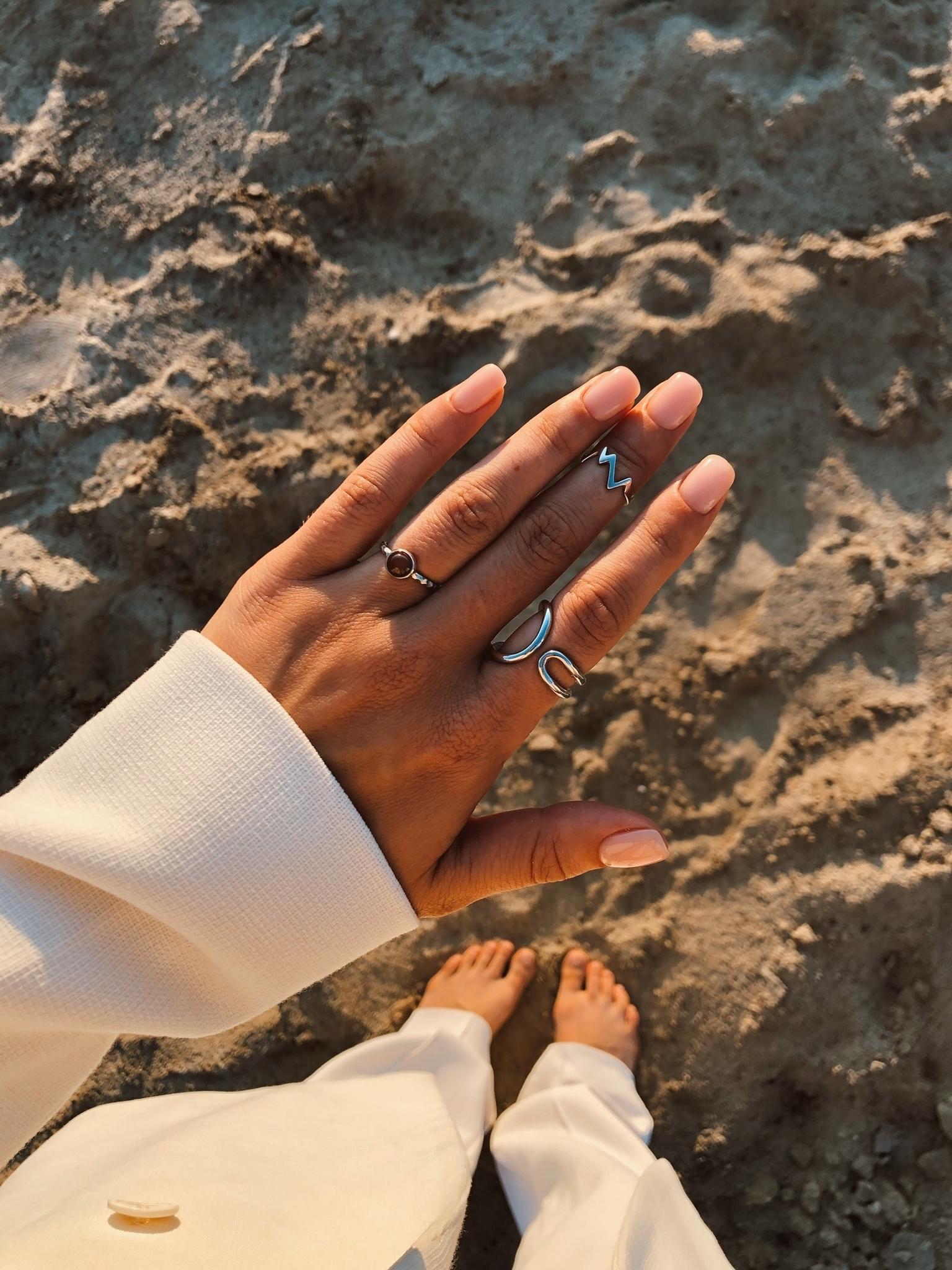 Серебряное кольцо лассо