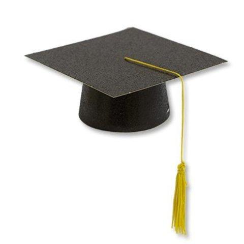 Шляпа бумажная мини Выпускник черная