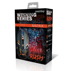 Игровая мышь проводная RUSH Matrix SBM-723G-K черный SMARTBUY