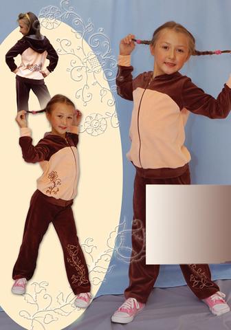 Выкройка велюрового костюма для девочки