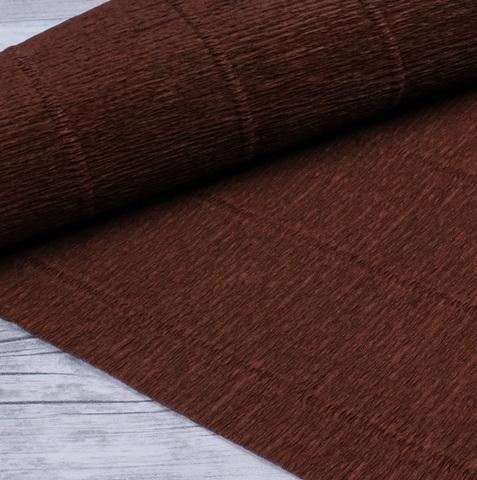 Бумага гофрированная, цвет 568 коричневый, 180г, 50х250 см, Cartotecnica Rossi (Италия)