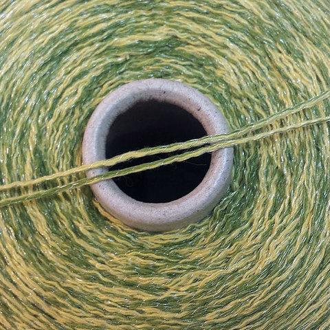 Смесовка со льном Casa Del Filato / BERRY  320 лимонно-зеленый