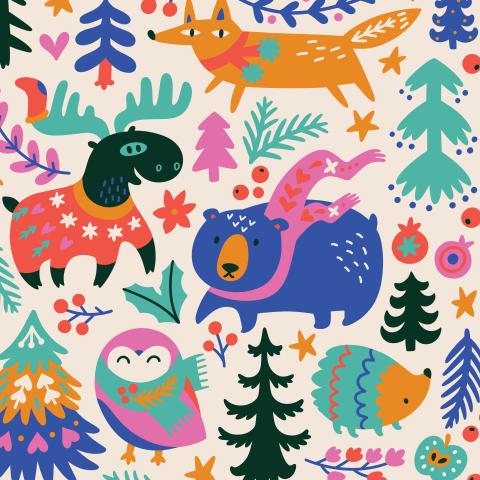 Рождественские зверятки