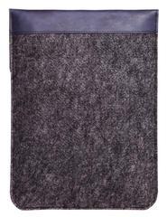 Вертикальный чехол Gmakin для Macbook синий с черным