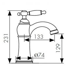 Смеситель KAISER Vincent 31111-1 Bronze для раковины схема