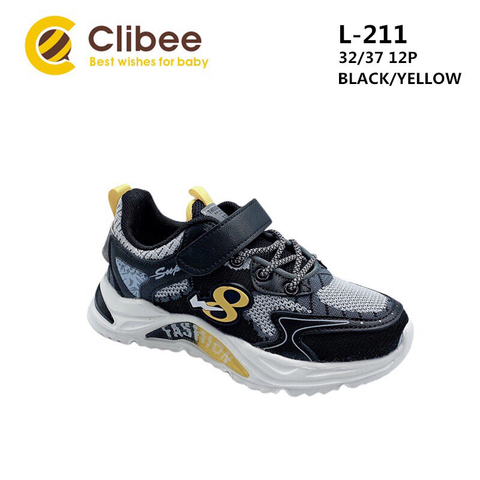 Clibee L211 Black/Yellow 32-37