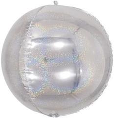 К  Сфера 3D, Серебро, Голография, 24''/61 см, 1 шт.