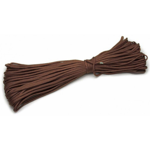 Шнур нейлоновый PC048 длина 30 м, диаметр 4.0 мм (коричневый)