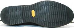 Кожаные мужские зимние ботинки на толстой подошве Luciano Bellini 6057-58K Black Leathers & Nubuk.