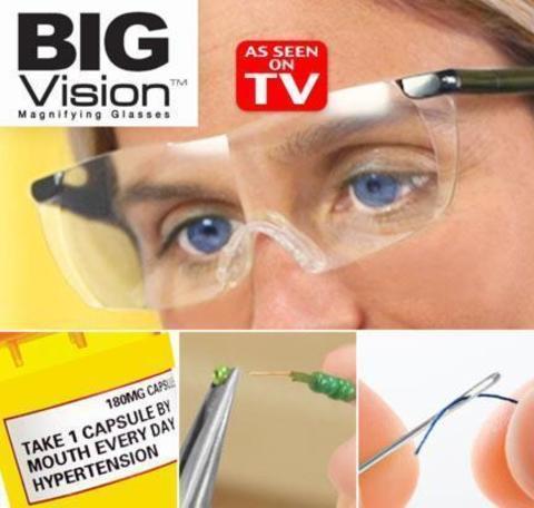 Увеличительные чудо очки Big Vision -  Биг  Вижен  - Zoom Hd 160 %